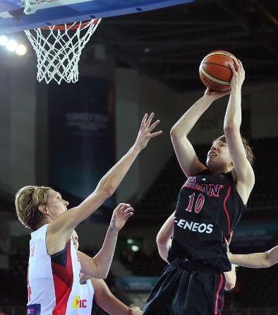 世界女子バスケ、日本2連敗
