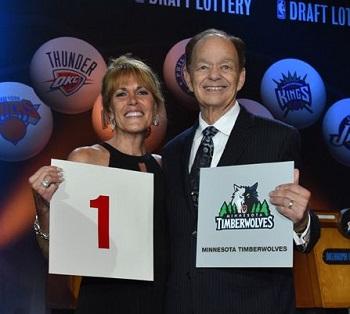 NBAウルブズ、ドラフト1位指名権獲得