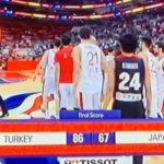 【バスケW杯2019】日本は初戦でトルコに67-86で敗戦、八村塁15点7R、イリヤソバは17得点