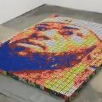 これは凄い!ルービックキューブで作ったレブロンの肖像画が話題