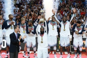 【動画】バスケW杯、米国がセルビアに圧勝 大会2連覇達成
