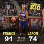 バスケ男子日本代表、トニー・パーカーらNBA選手擁するフランス代表に74-91で敗れるも大健闘!(動画あり)