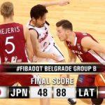 バスケ男子リオ五輪世界最終予選 日本代表は緒戦でラトビアに48―88で完敗で五輪切符が遠のく