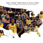 アメリカ各州で最も嫌われているNBA選手とは