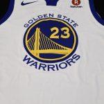 【NBA】GSWの楽天スポンサーロゴの色が合っていないと評判!※他のチームは結構合ってます