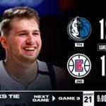 【NBA】DALがLACに一度もリードを許さず1勝1敗に!ドンチ28点ポルジンギス23点