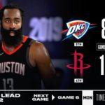 【NBA】3Qに突き放したHOUがシリーズ王手!復帰したラスはFG3/13で7点どまり