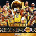 【NBAファイナル2020】レイカーズがヒートを下し10年ぶりの優勝!