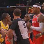 LAL-HOU戦で乱闘発生!CP3、ロンド、イングラムの3人が退場処分に【NBA 2018-19】