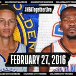 【NBA】伝説の試合!2016年2月27日にカリーの劇的スリーでGSWがOKCを下したゲームを公式が配信中